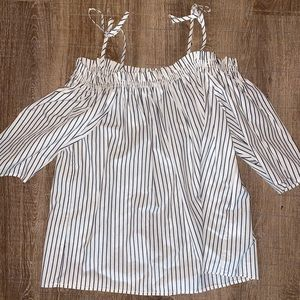 Off the shoulder striped top from H&M